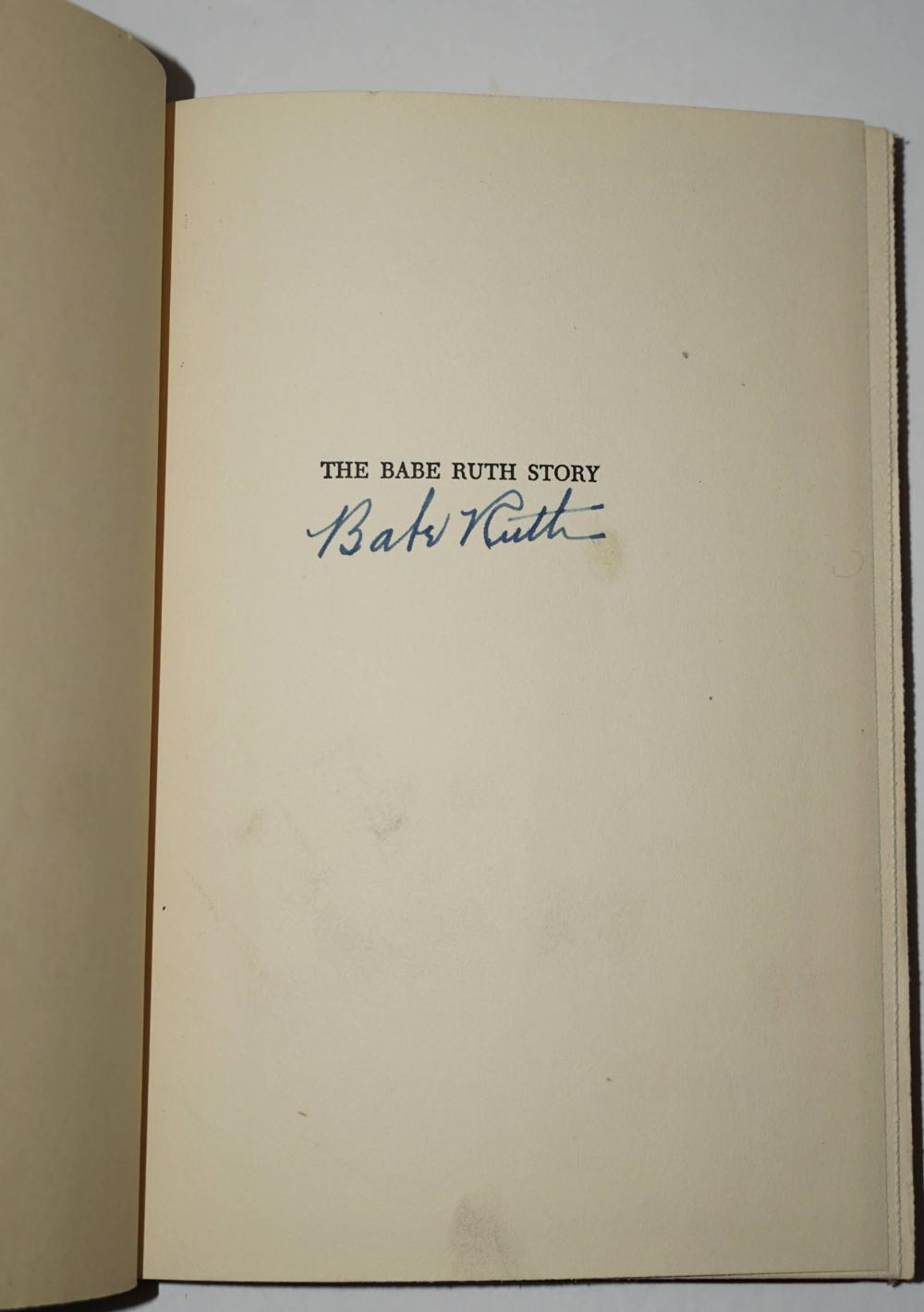 Babe Ruth SIGNED,
