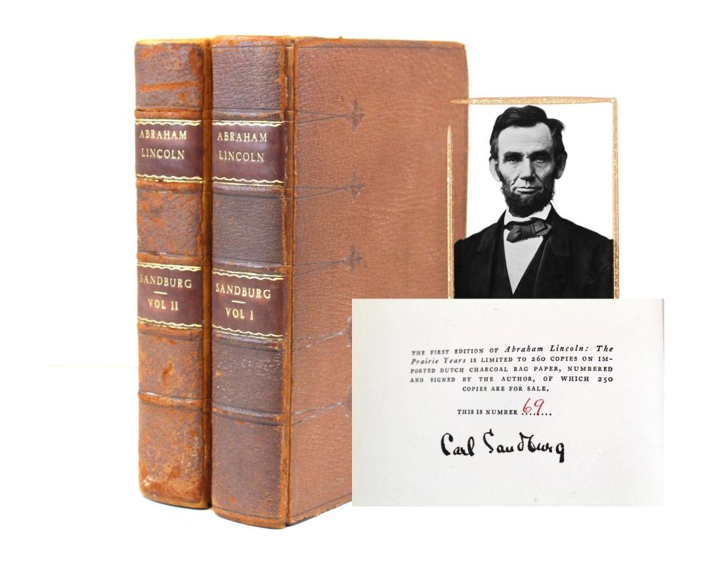 """""""Abraham Lincoln: The Prairie Years"""". First Edition Signed by Carl Sandburg. Pulitzer Prize Winner."""