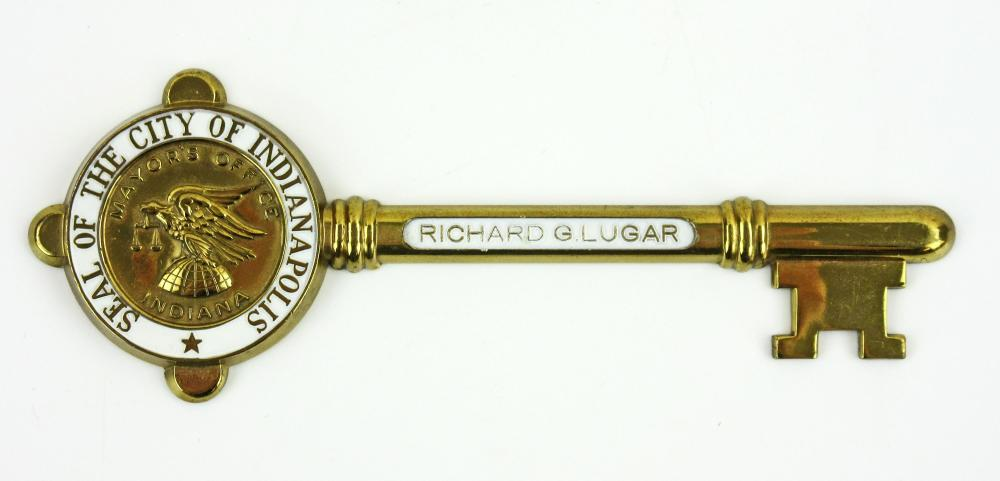 Mercury Astronaut Gordon Cooper's Honorary Key to the City of Indianapolis