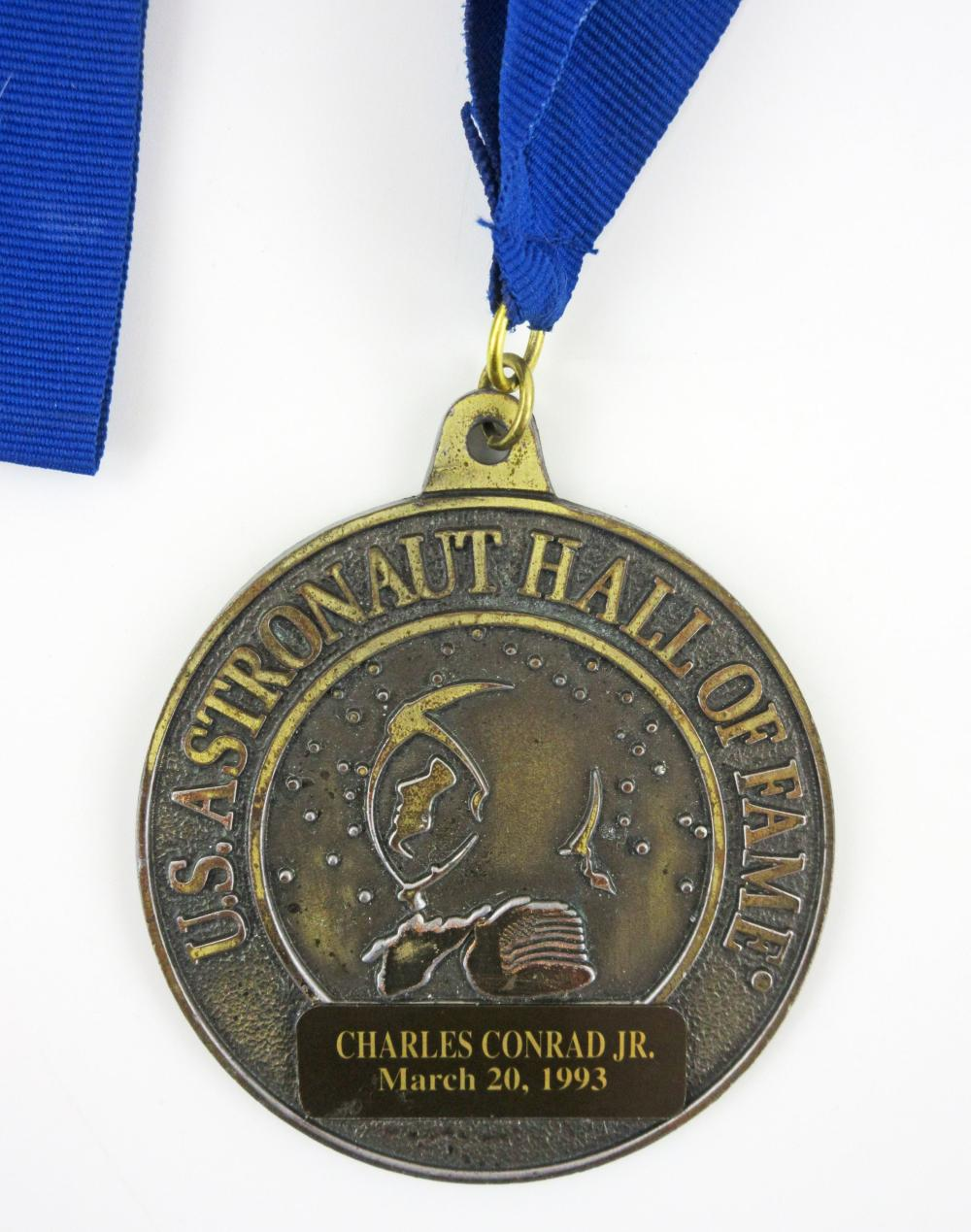 Charles Conrad Jr. U.S. Astronaut Hall of Fame Medal, Presented to Mercury 7 Astronauts Upon Induction