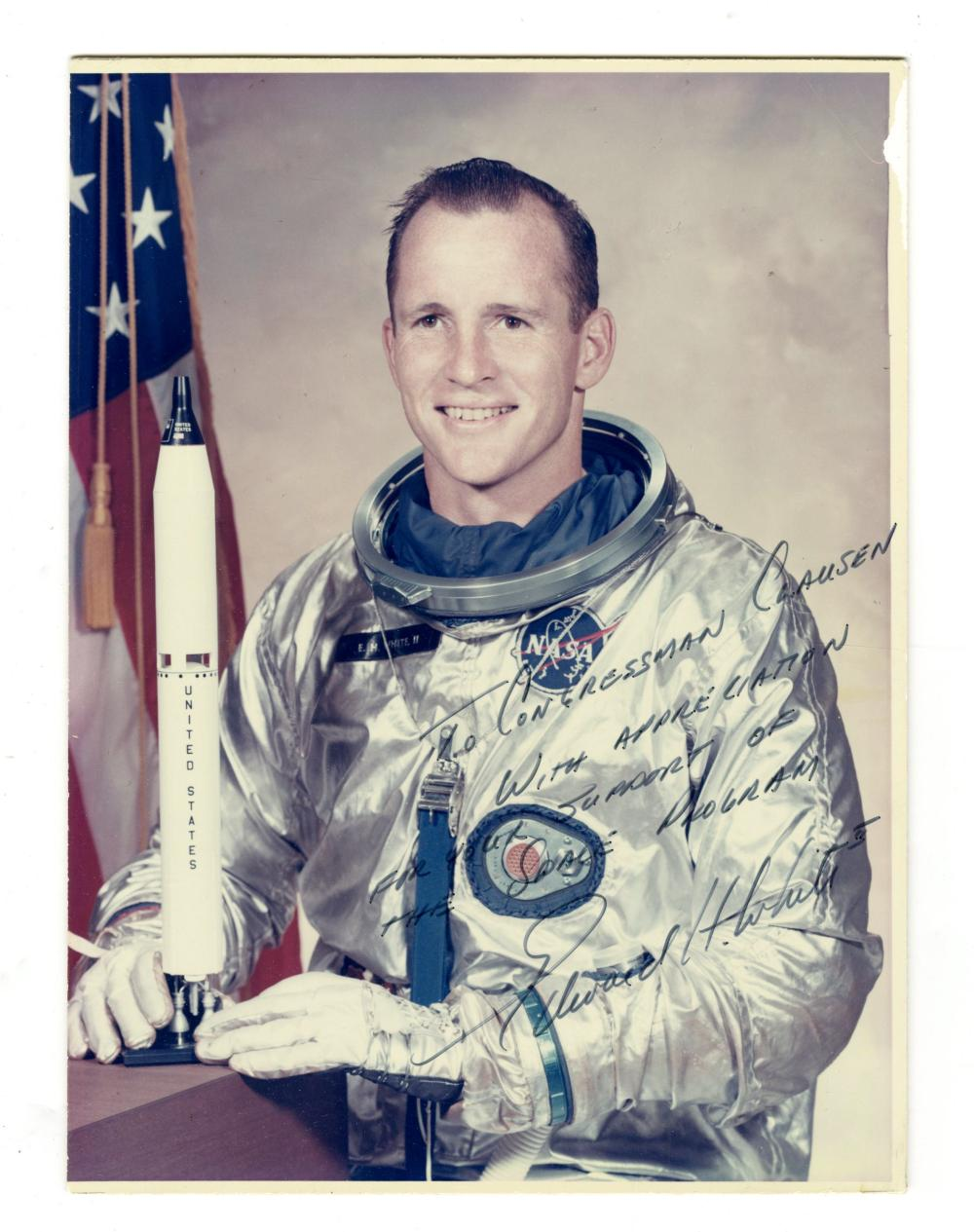 Astronaut Ed White Signed and Inscribed Photograph to a Congressman