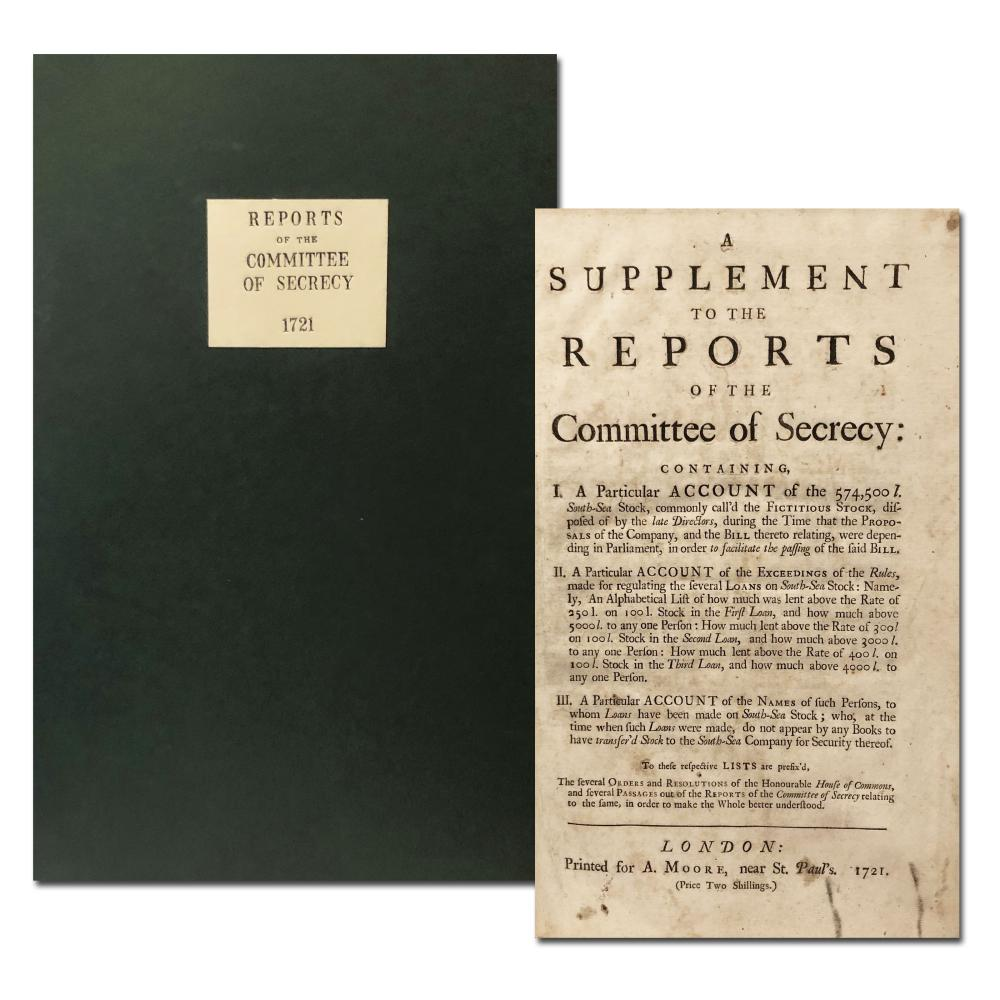 South Sea Company 1721 Reports of the Committee of Secrecy 48 Pages