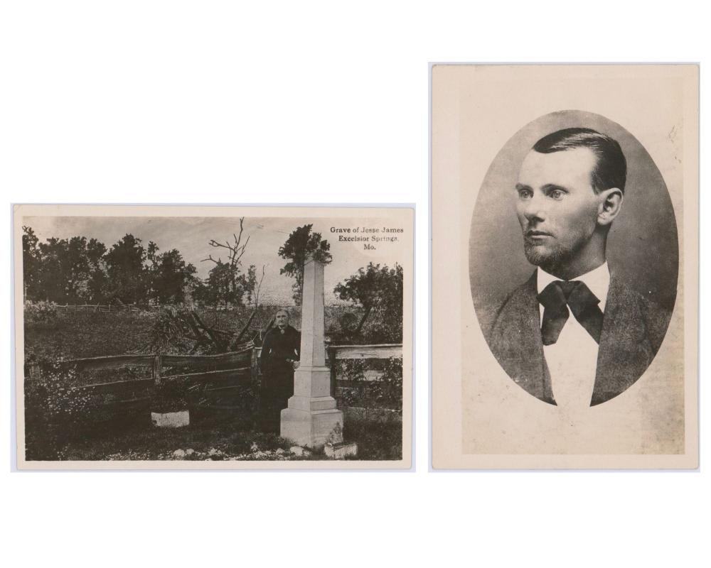 Two Vintage Jesse James Photos. Owned by John Tackett Coffeyville Photographer