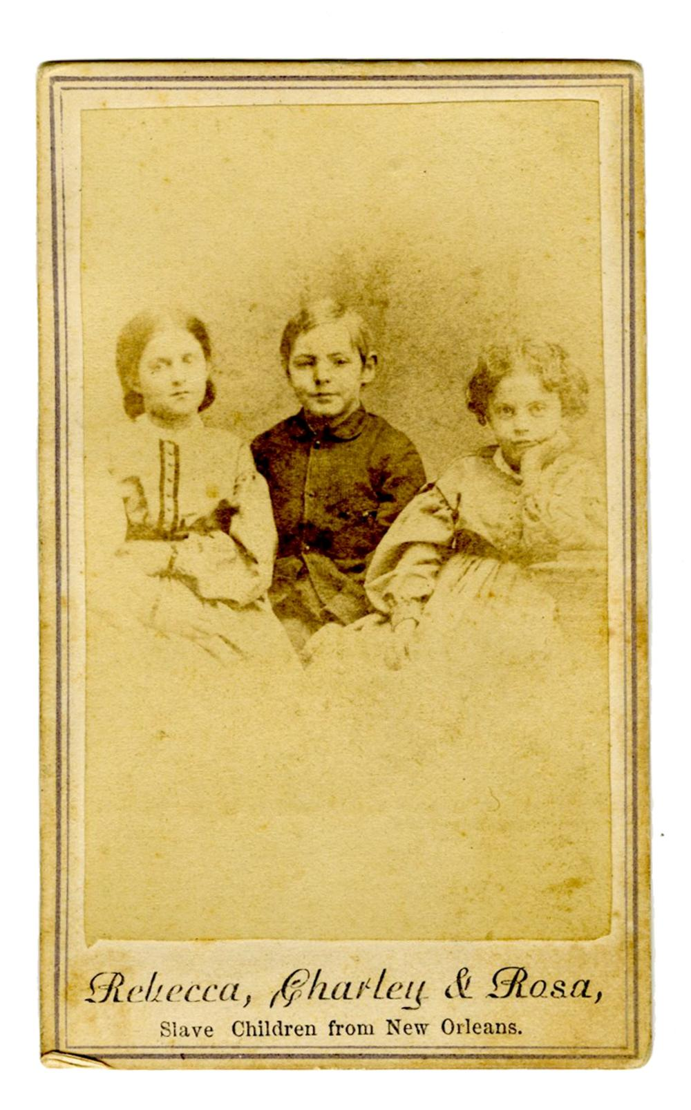"""""""Slave Children"""" Carte-de-Visite Used by Abolitionists to Support Education"""