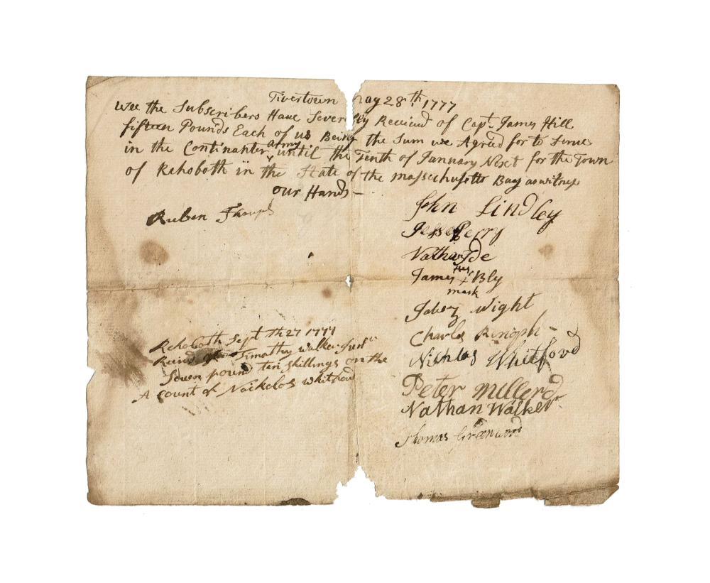 Rev. War 1777 Continental Army Recruits