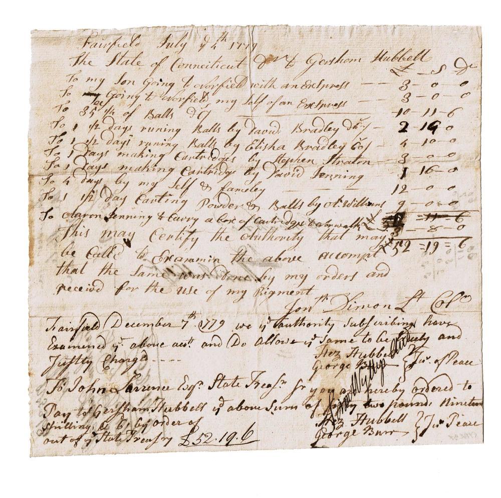 Rev. War Invoice For Ammunition Made By A Former Prisoner of War