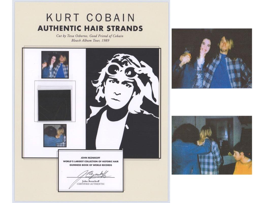 Lock of Nirvana's Kurt Cobain's Hair, Collected By His Barber