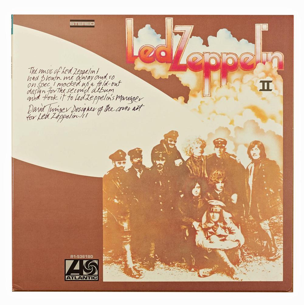 Led Zeppelin II Artist David Juniper Signed Album Cover with LOA