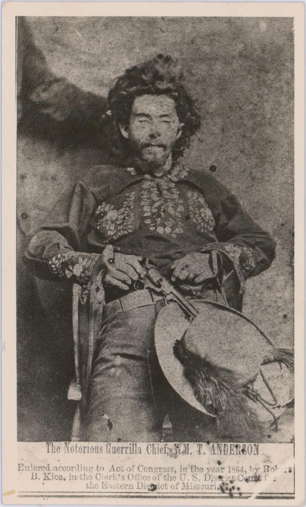"""Vintage Photo of """"Bloody Bill"""" Anderson After Being Killed By Union Solders, Owned by the Photographer"""