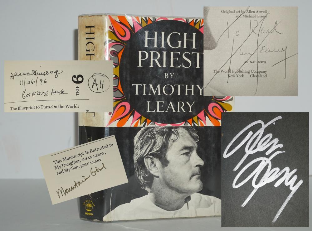 "Timothy Leary, Allen Ginsberg, Ken Kesey & Caroline Garcia Signed ""High Priest"""