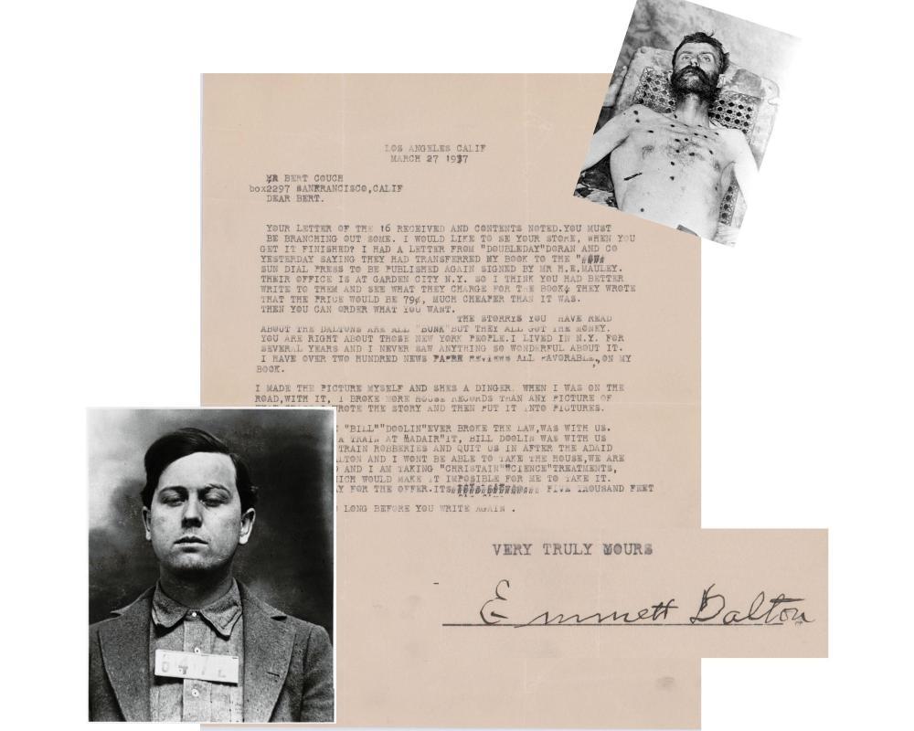 "Emmett Dalton TLS ""The 1st Time Bill Doolin Ever Broke the Law.... We had Robbed a Train"""