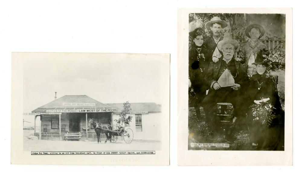 Two Judge Roy Bean Photographs, Printed 1st Half of the 1900s