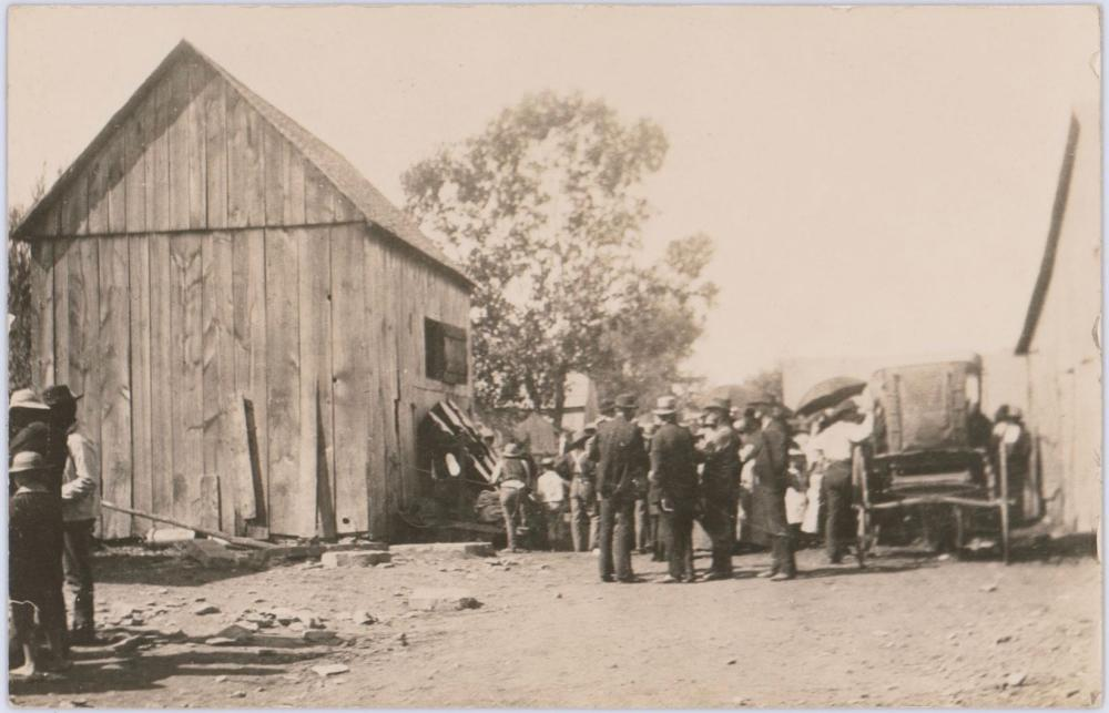 Vintage Real Photo Postcard of Death Alley, Location Bob Dalton was Shot. Owned by the Photographer