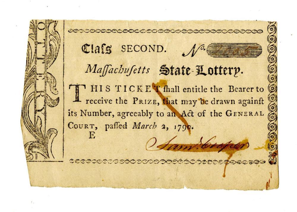 Early Rhode Island, Massachusetts, Virginia, and Pennsylvania Lottery Tickets