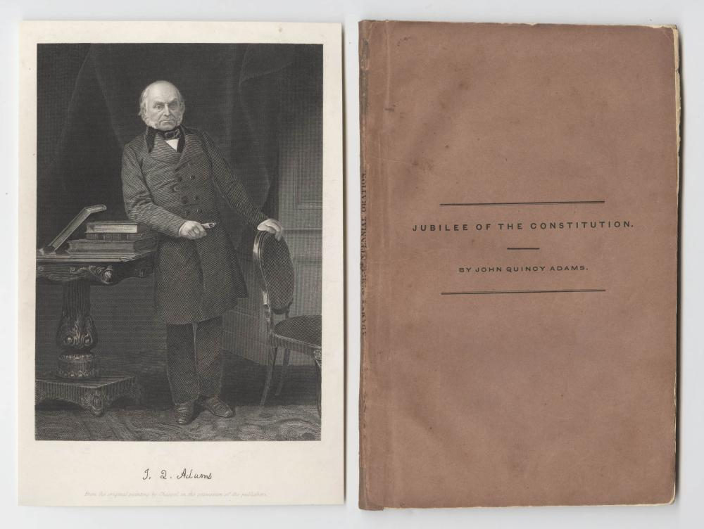 """John Quincy Adams Signed Copy """"Jubilee of the Constitution"""""""