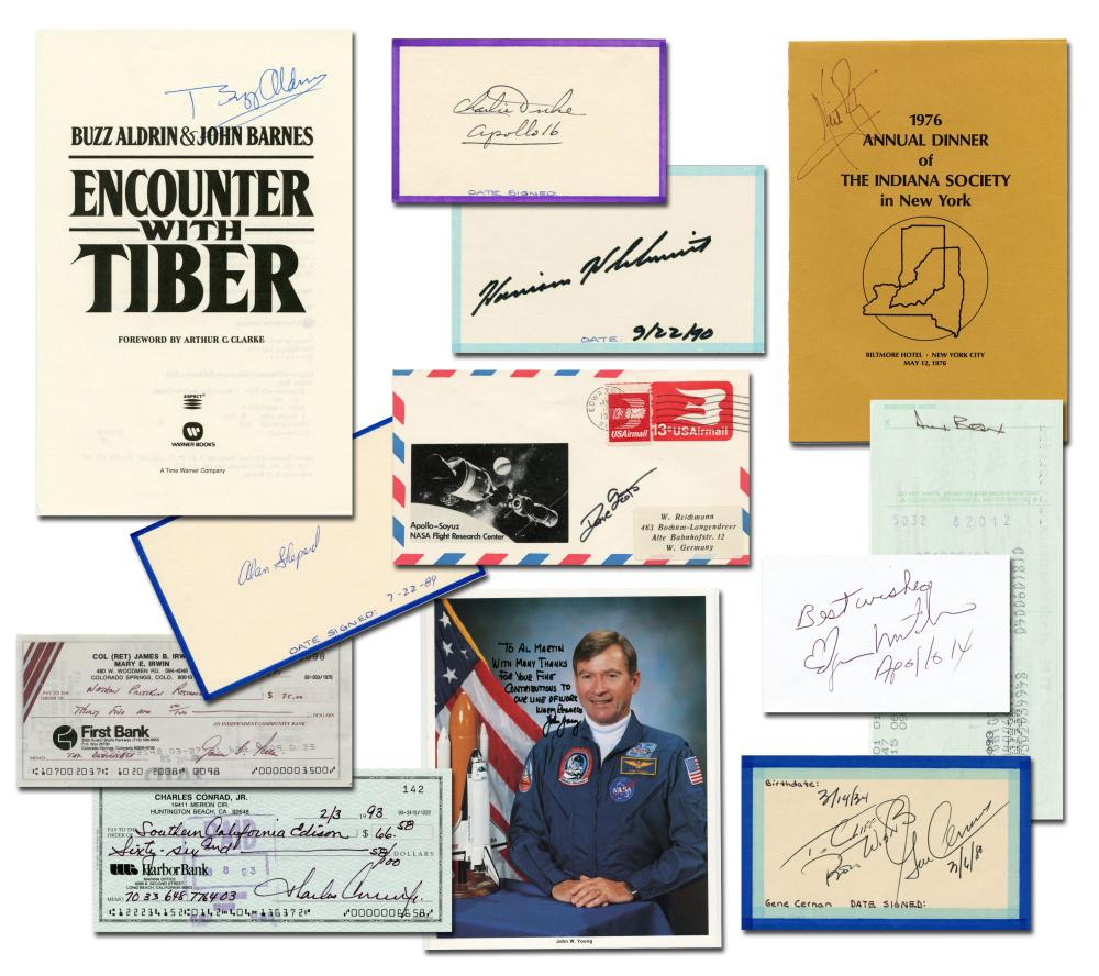 Moonwalkers Collection, Lot of 12 Signed Items by Apollo Astronauts, Includes Neil Armstrong and Buzz Aldrin