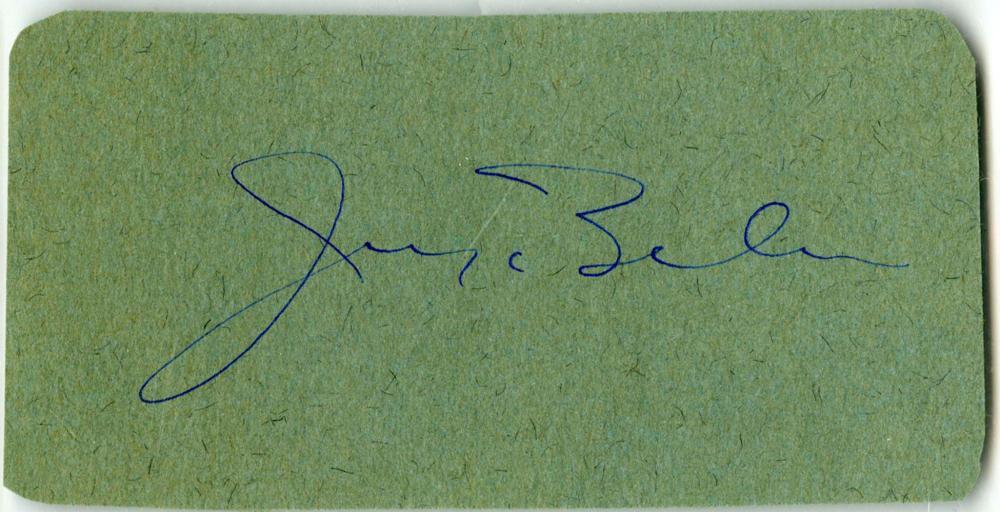 Musical Legend Irving Berlin Signed Card, PSA Slabbed and Graded NM 7