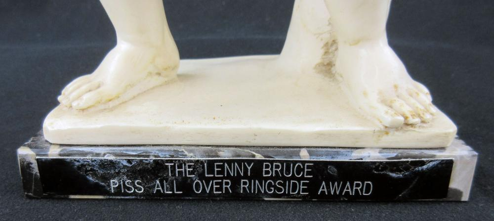 """""""The Lenny Bruce Piss All Over Ringside Award"""" Presented to Dustin Hoffman, Who Played Comedian in 1974 Eponymous Film"""