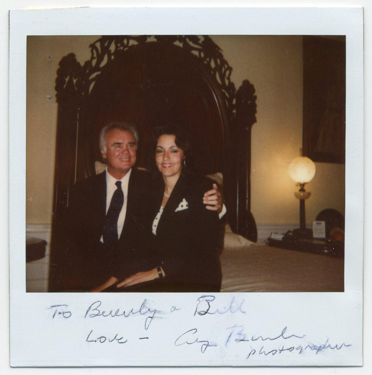 George H.W. Bush Signed Polaroid Photo Depicting FL Congressman & His Ex-Mistress Seated on the Bed in the Lincoln Bedroom!