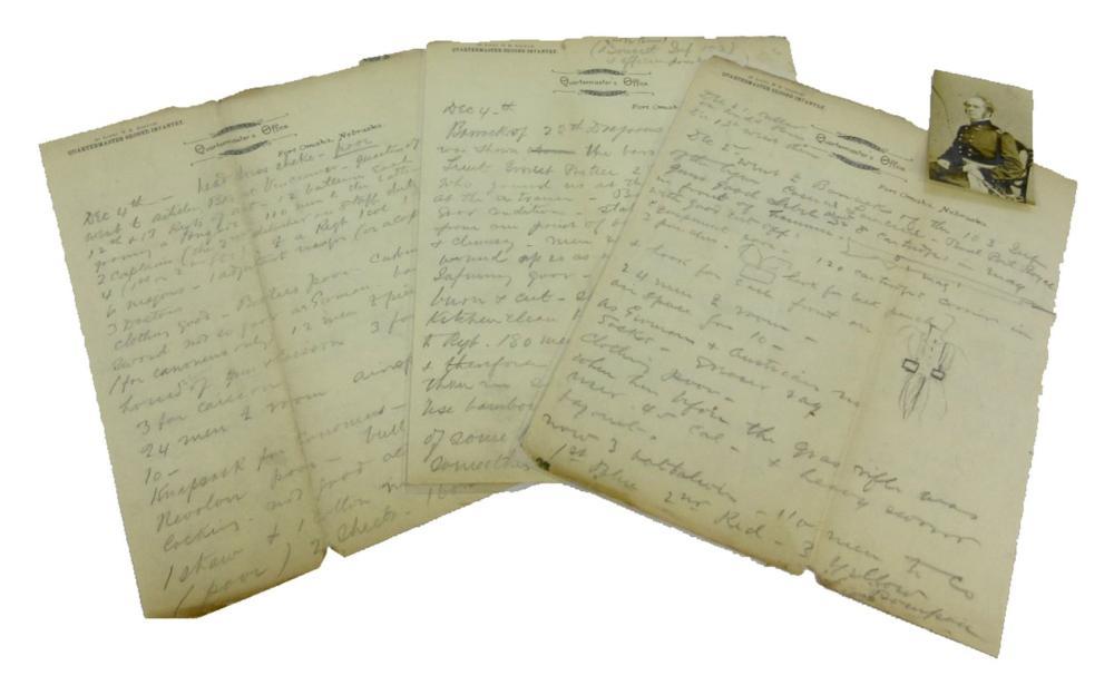 Manuscript account of the career of Brigadier General Henry Washington Benham with framed map of Charleston Harbor