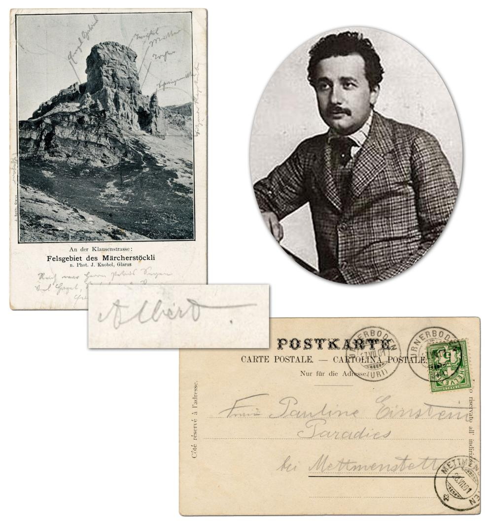 Albert to Mama: Only Einstein Letter that We've Seen to Her, Regarding a Trip to the Swiss Alps