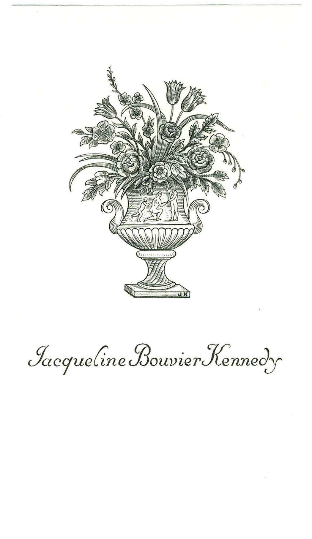 Jackie Kennedy Stunning Personalized Bookplate