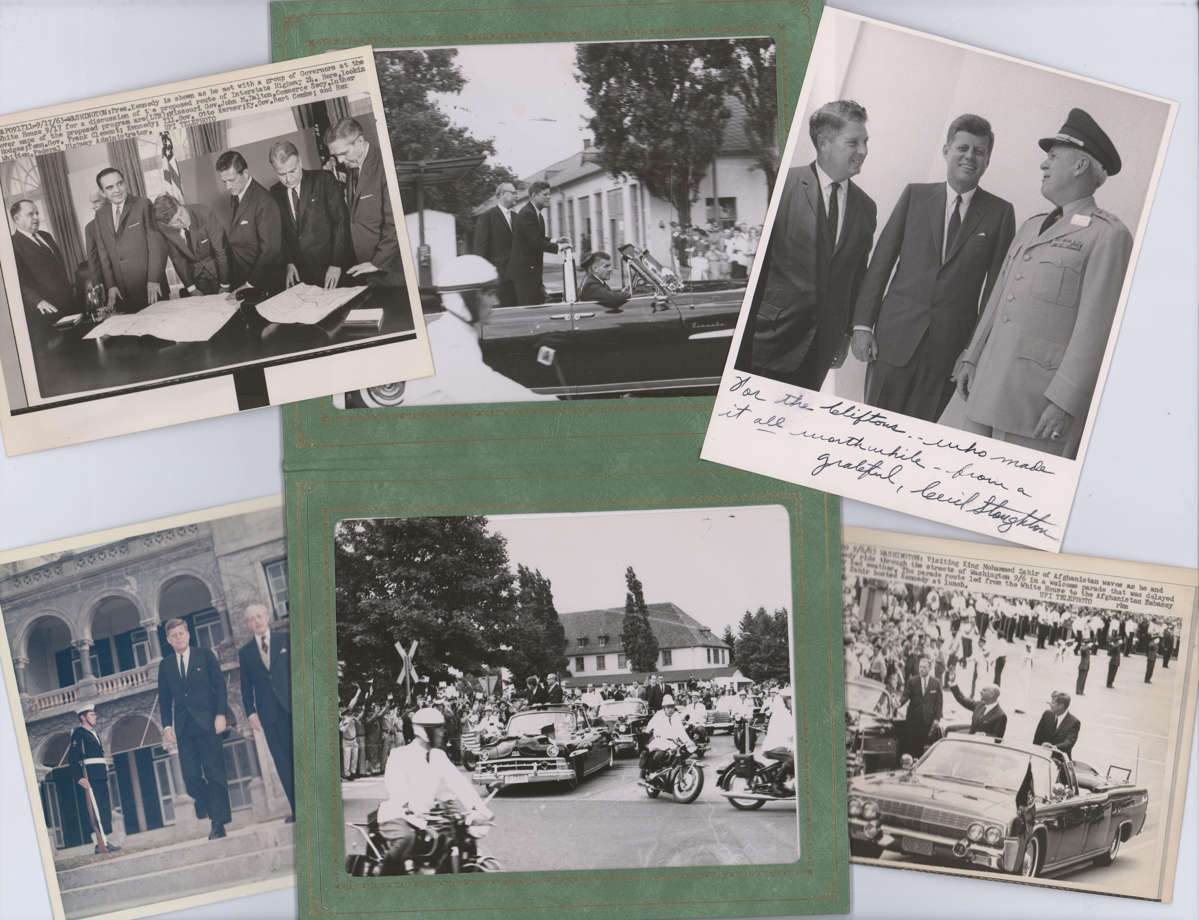 President Kennedy Photo Archive of Six 8 x 10 Photos