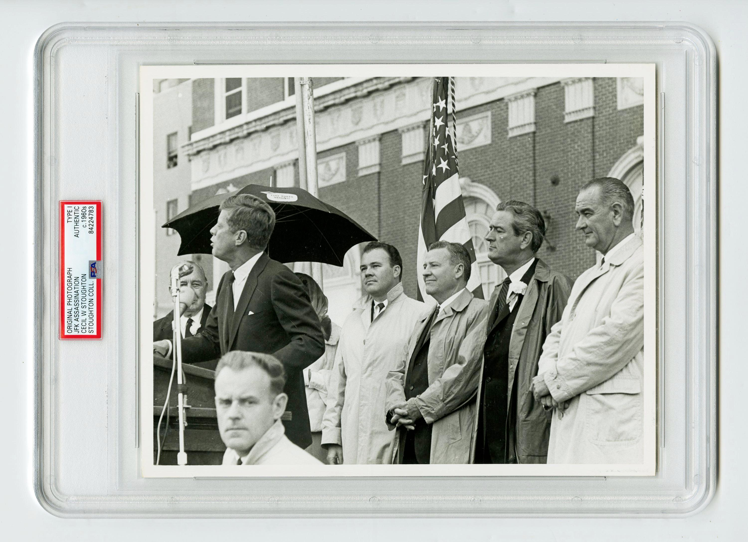 JFK with Johnson and Others Hours Before His Assassination, Cecil Stoughton's Owned Example, Slabbed Type I
