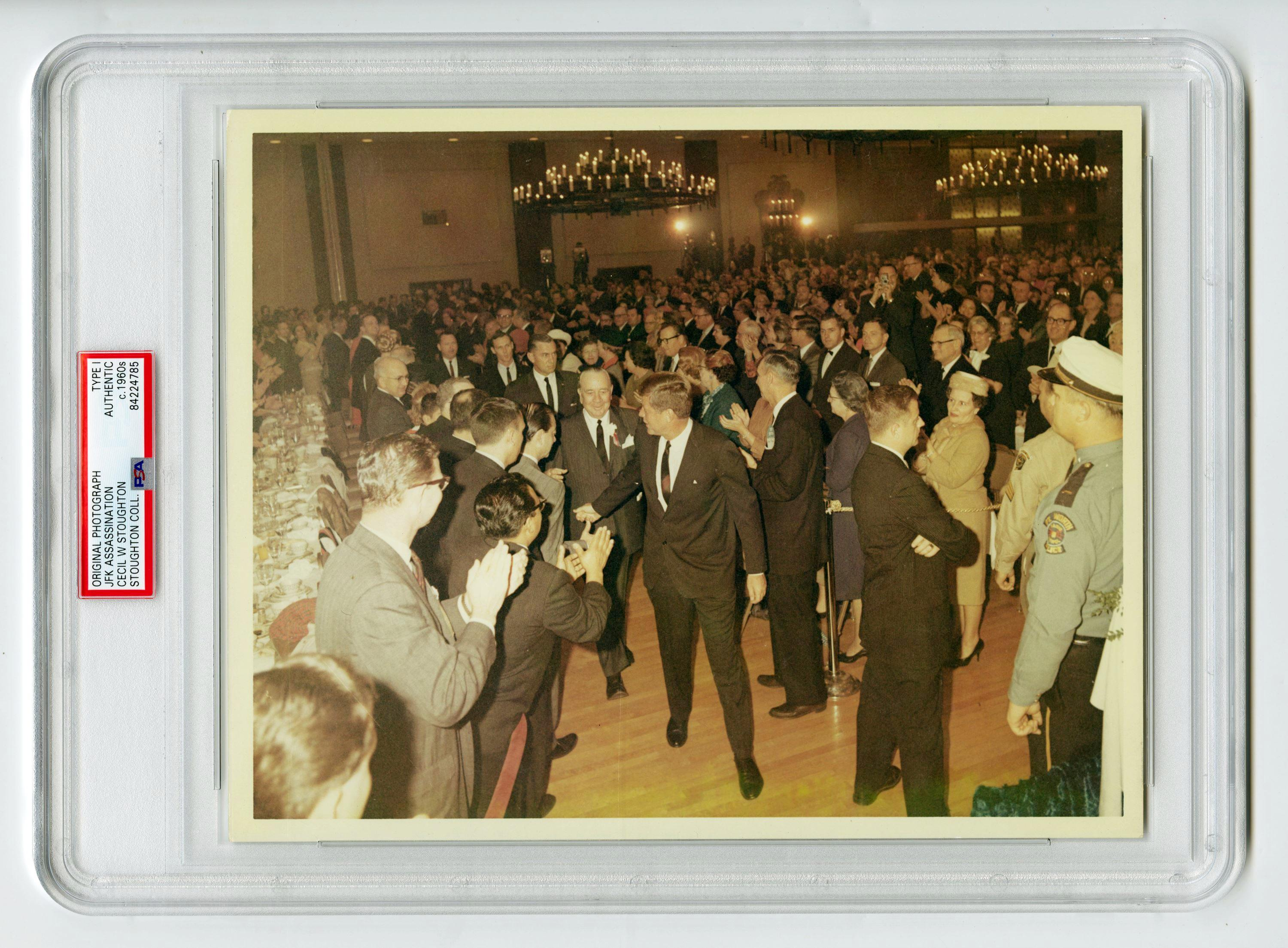 JFK At Presidential Breakfast Hours Before His Assassination, Cecil Stoughton's Owned Example, Slabbed Type I