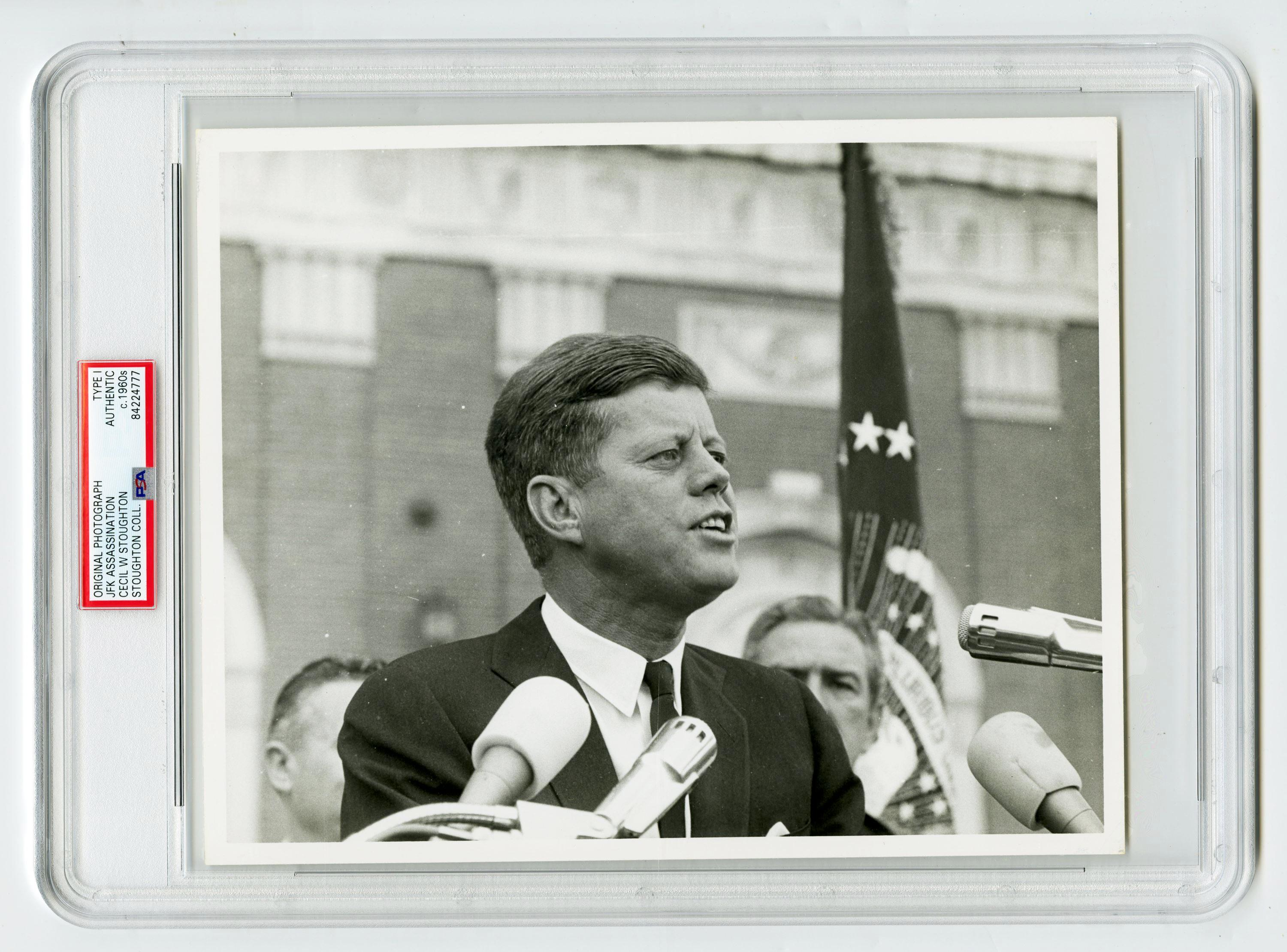 JFK Photographed at Hotel Texas Hours Before His Assassination, Cecil Stoughton's Owned Example, Slabbed Type I