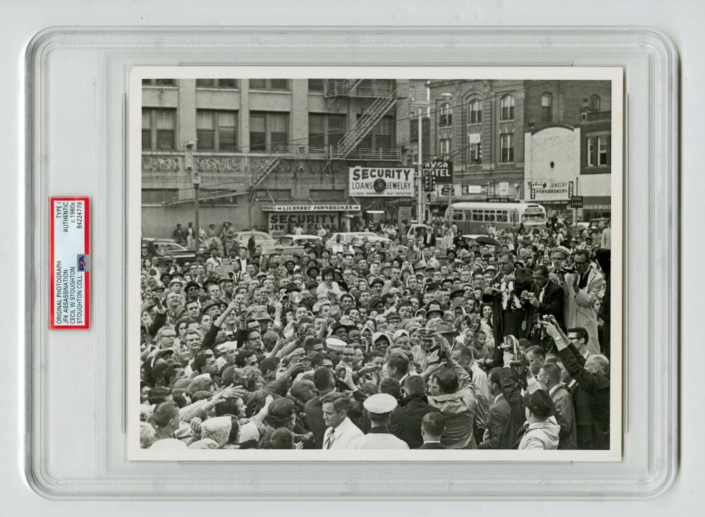 JFK Greets Supporters Outside Hotel Texas Hours Before His Assassination, Cecil Stoughton's Owned Example, Slabbed Type I