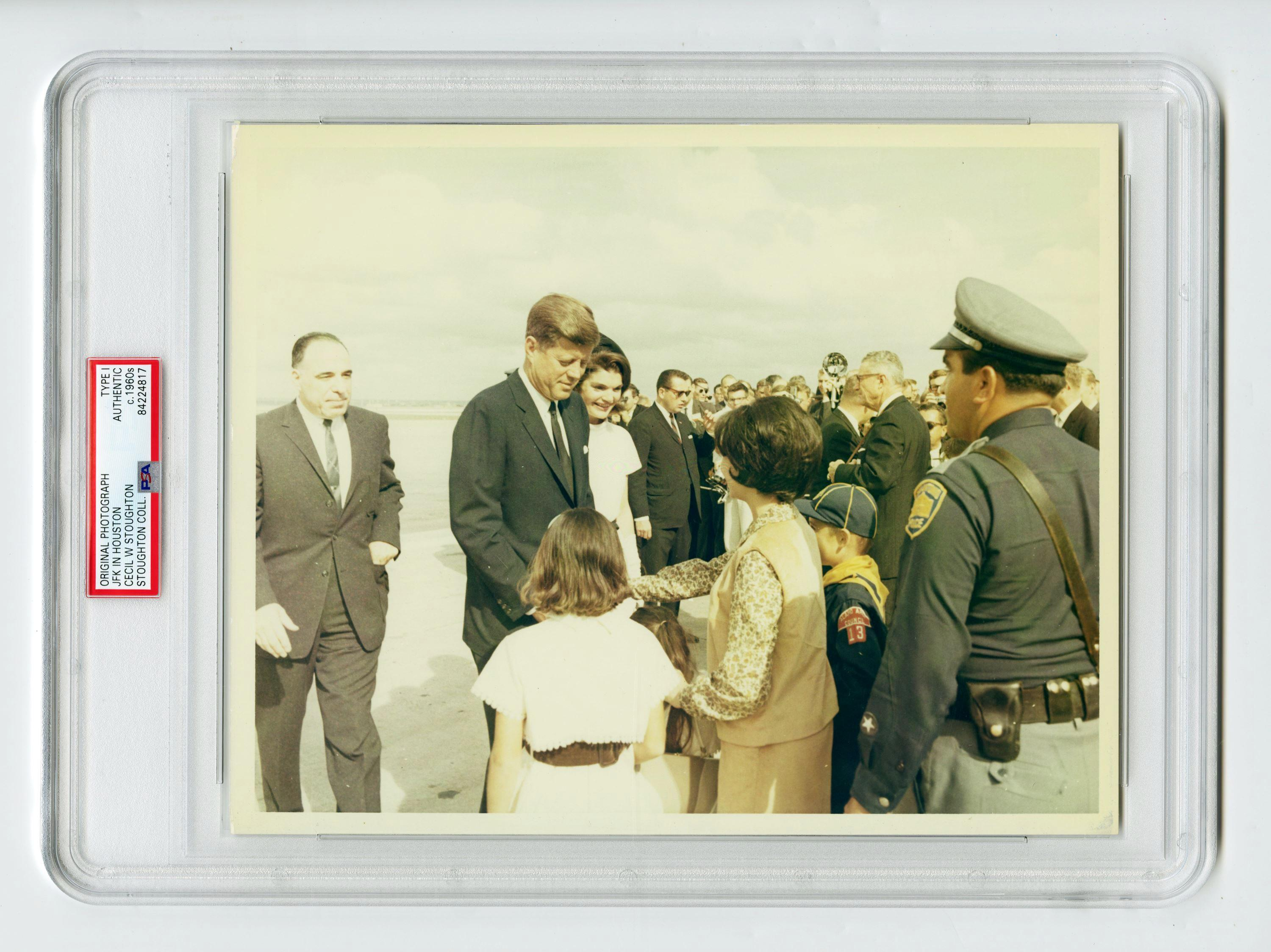 JFK and Jackie the Day Before His Assassination, Cecil Stoughton's Owned Example, Slabbed Type I