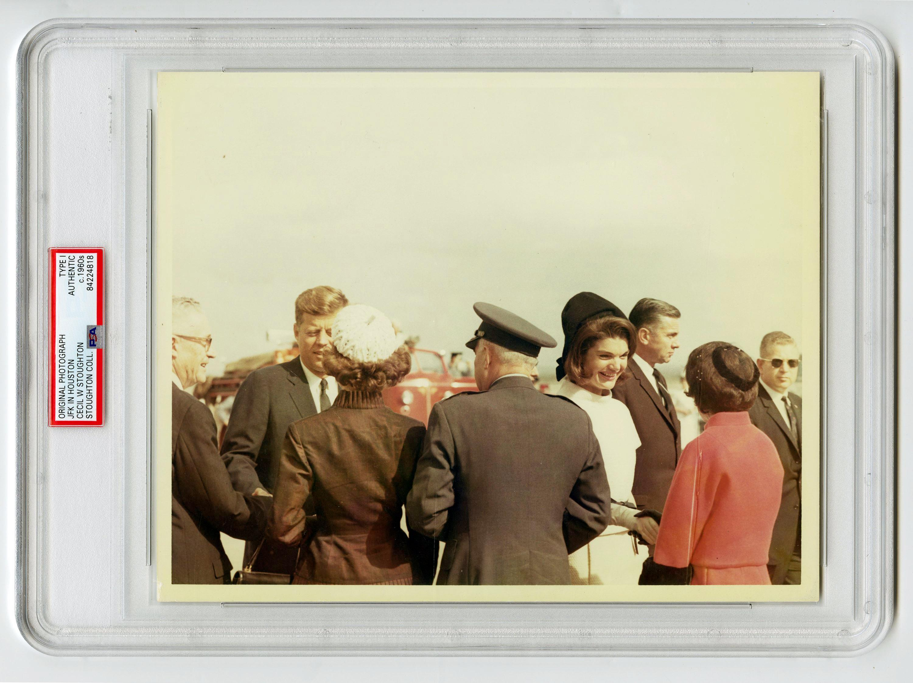 JFK & Jackie in San Antonio the Day Before Assassination, Cecil Stoughton's Owned Example, Slabbed Type I
