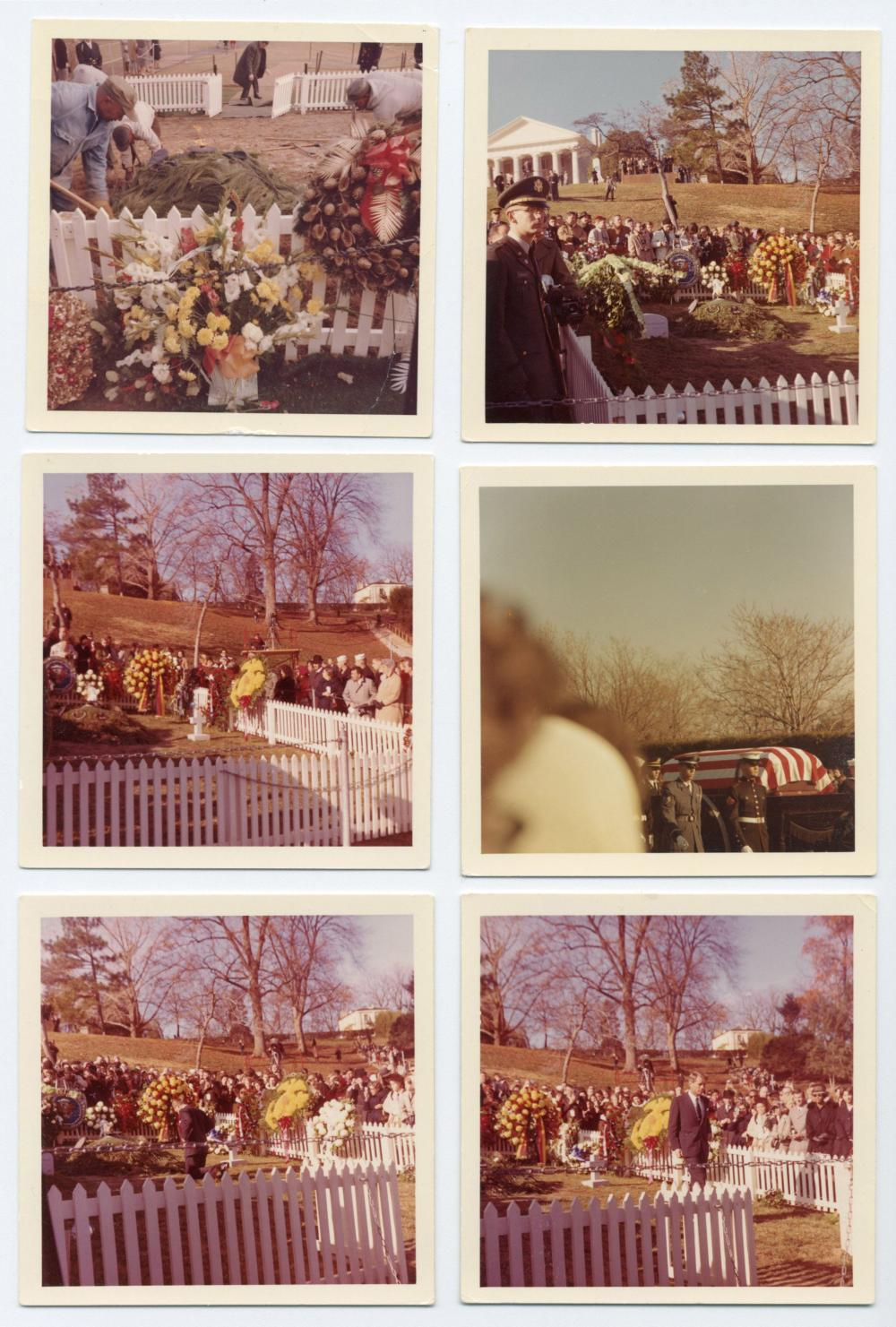 11 Vintage Snapshots of JFK's Original Gravesite Taken During the Week Following His Interment, Featuring RFK & Eunice Kennedy