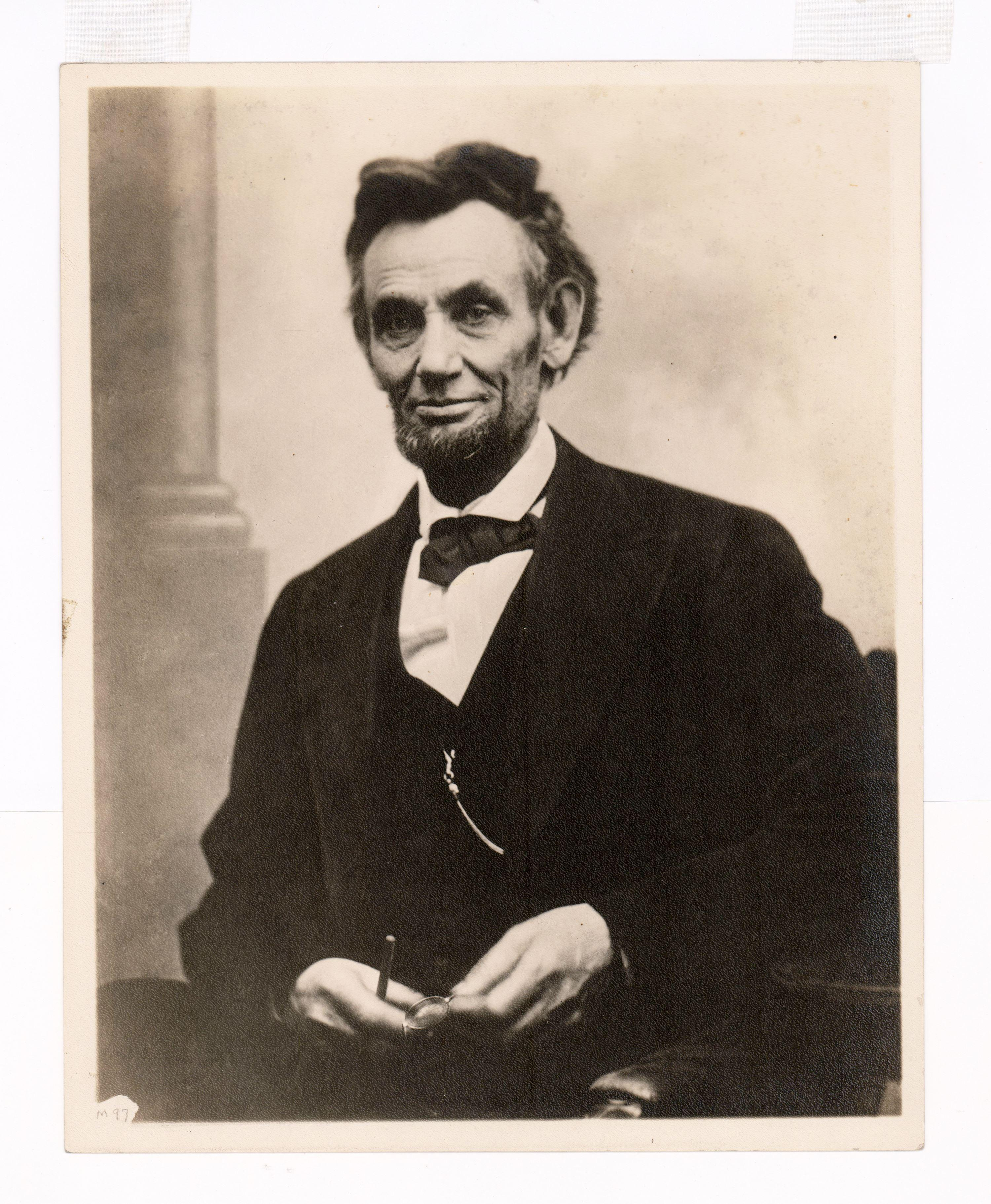 Impressively Sized Vintage Print of President Abraham Lincoln