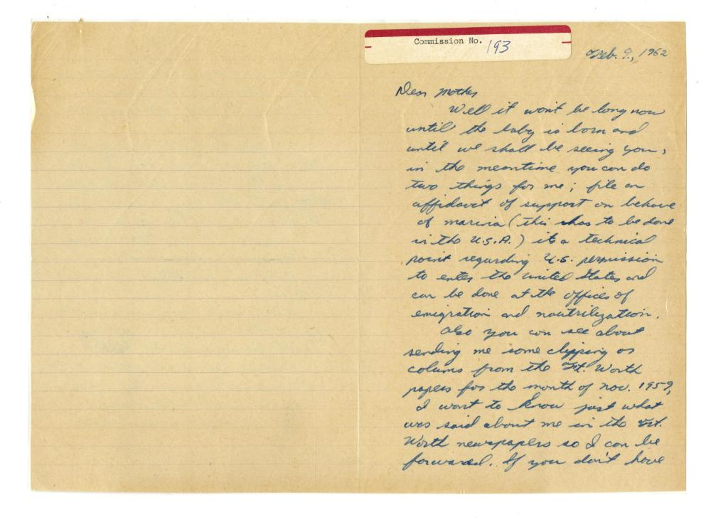 "Lee Harvey Oswald ALS to His Mother ""I want to know what was said about me..."", Warren Commission Evidence"