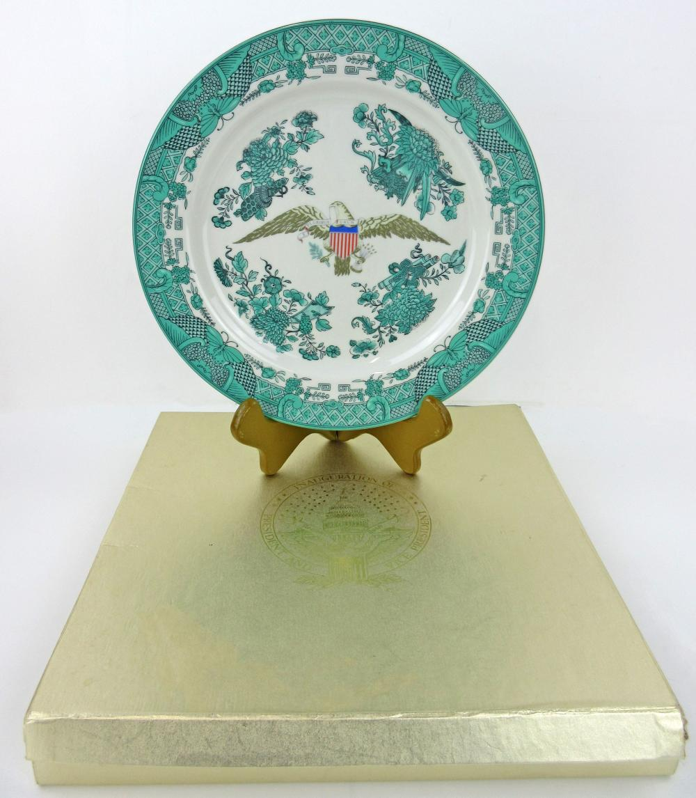 Ronald Reagan Inauguration Candlelight Dinner Chinese Export Style Mottahedeh Porcelain Dinner Plate