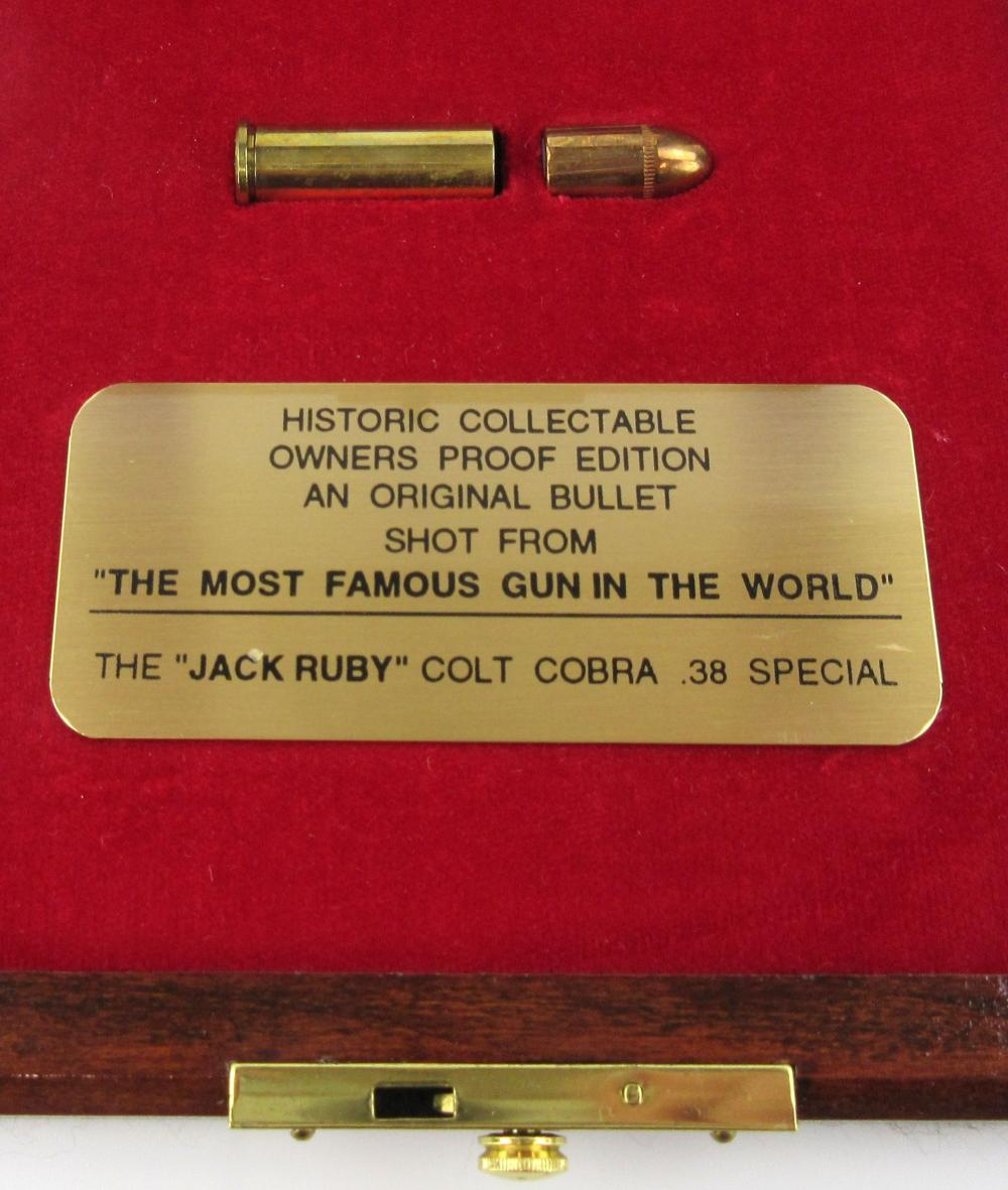 Jack Ruby Bullet & Spent Cartridge Fired from .38 Caliber Colt Cobra, Oswald Murder Weapon