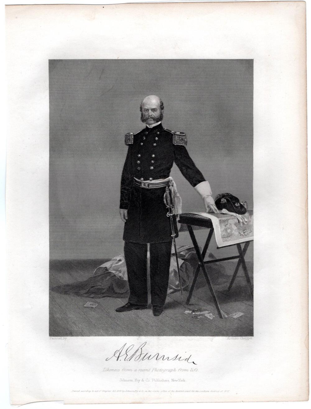 Gen. Burnside Thanks Naval Commander for His Aid in Capturing Confederate Fort on the North Carolina Coast
