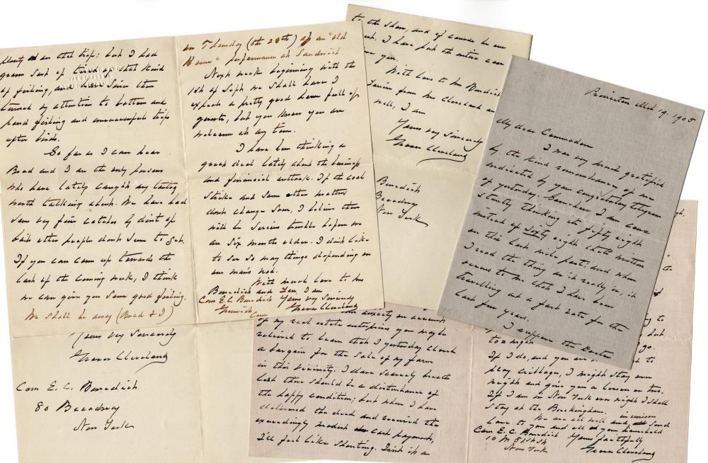 Delightful Series of Letters from Former President Cleveland on Topics from Fishing to the Economy