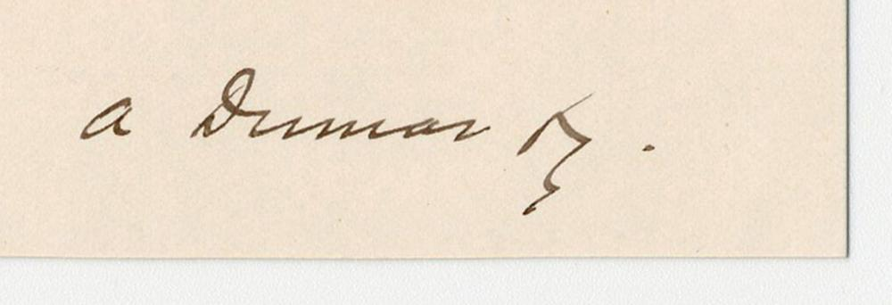 Alexandre Dumas Fils Signed Quote About the Nature of Humanity & Divinity