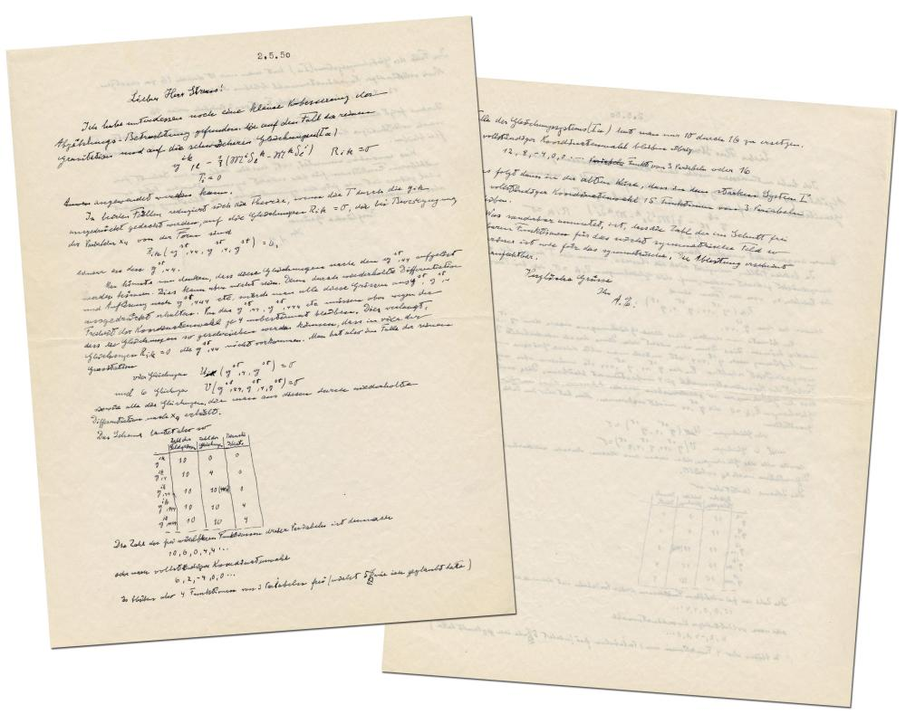 Albert Einstein ALS Re: Unified Field Theory, Complete with 12 Formulas & Lines of Calculations in His Hand, & Unpublished!