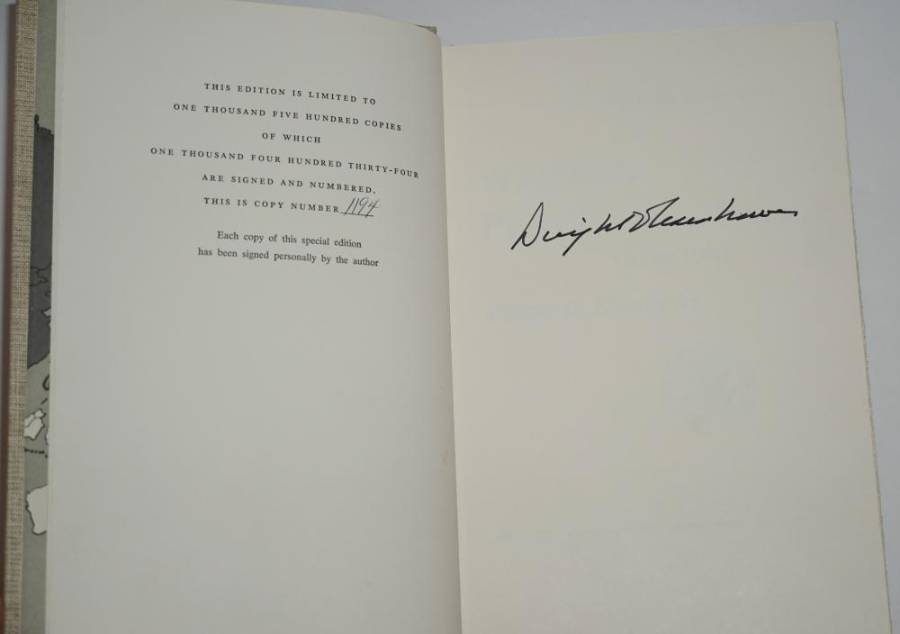 """Dwight D. Eisenhower Signed """"The White House Years, Waging Peace"""""""