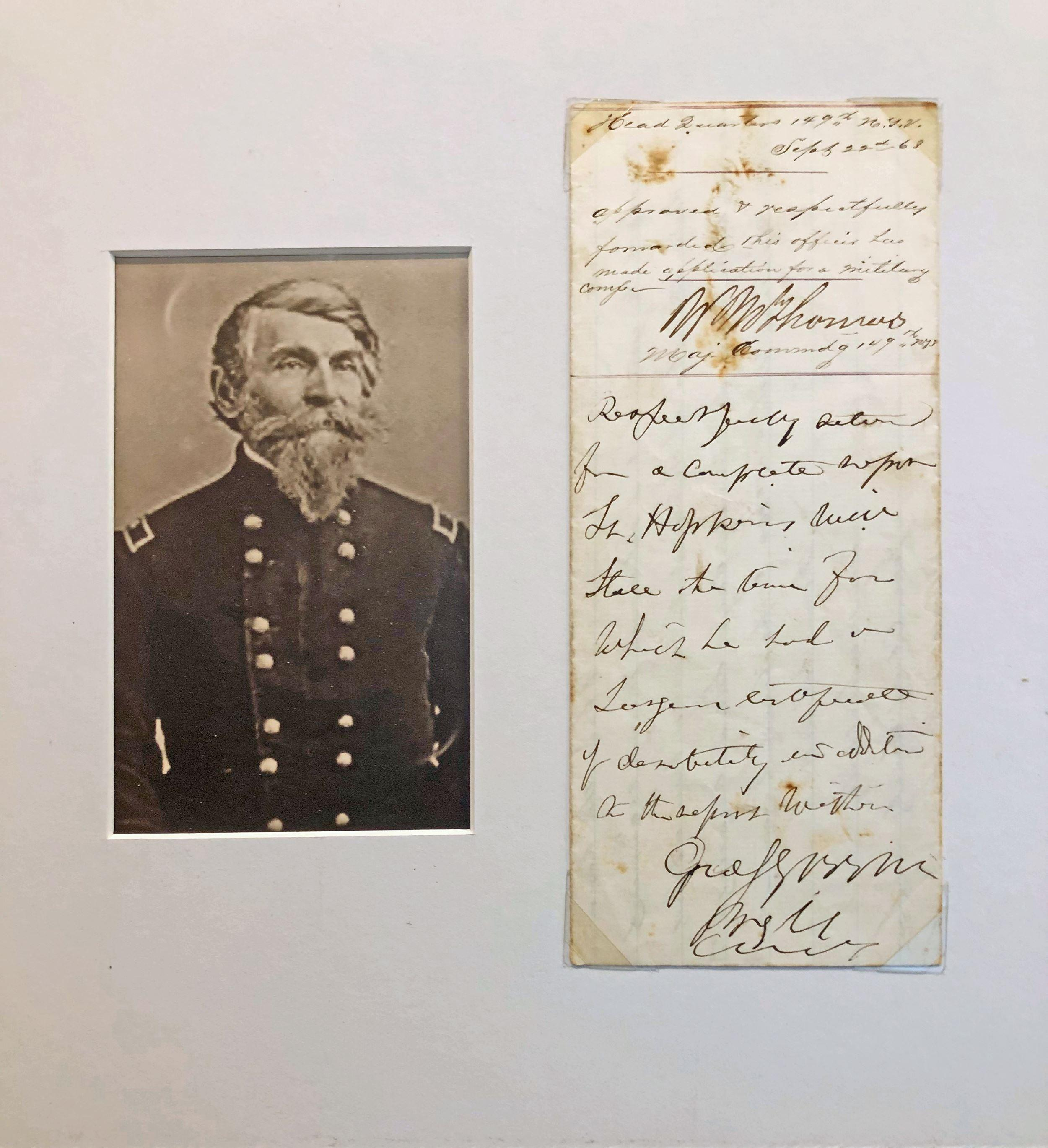 George S. Greene War Dated Autograph Endorsement Signed