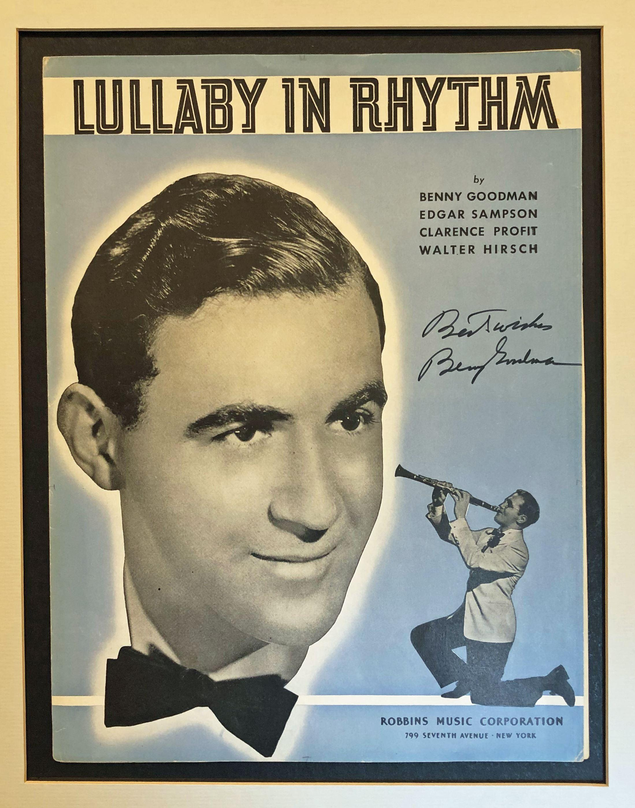 Benny Goodman Signed Sheet Music, Ready for Framing