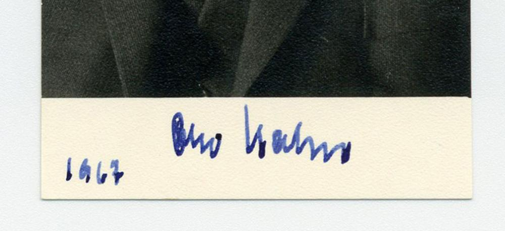 "Otto Hahn, ""Father of Nuclear Chemistry,"" Signed Photo"