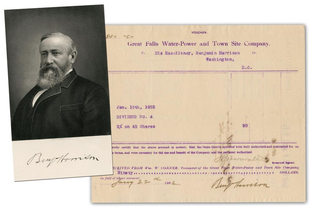 Benjamin Harrison Receives Montana Hydroelectricity Payout