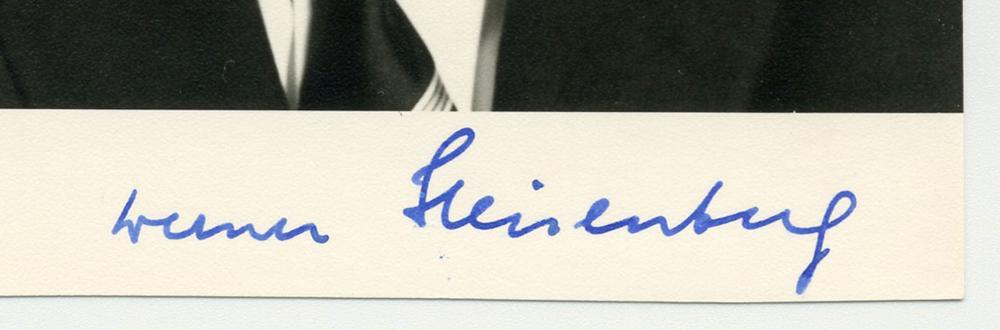 Werner Heisenberg, Nobel Prize-Winning German Physicist, Signed Photo