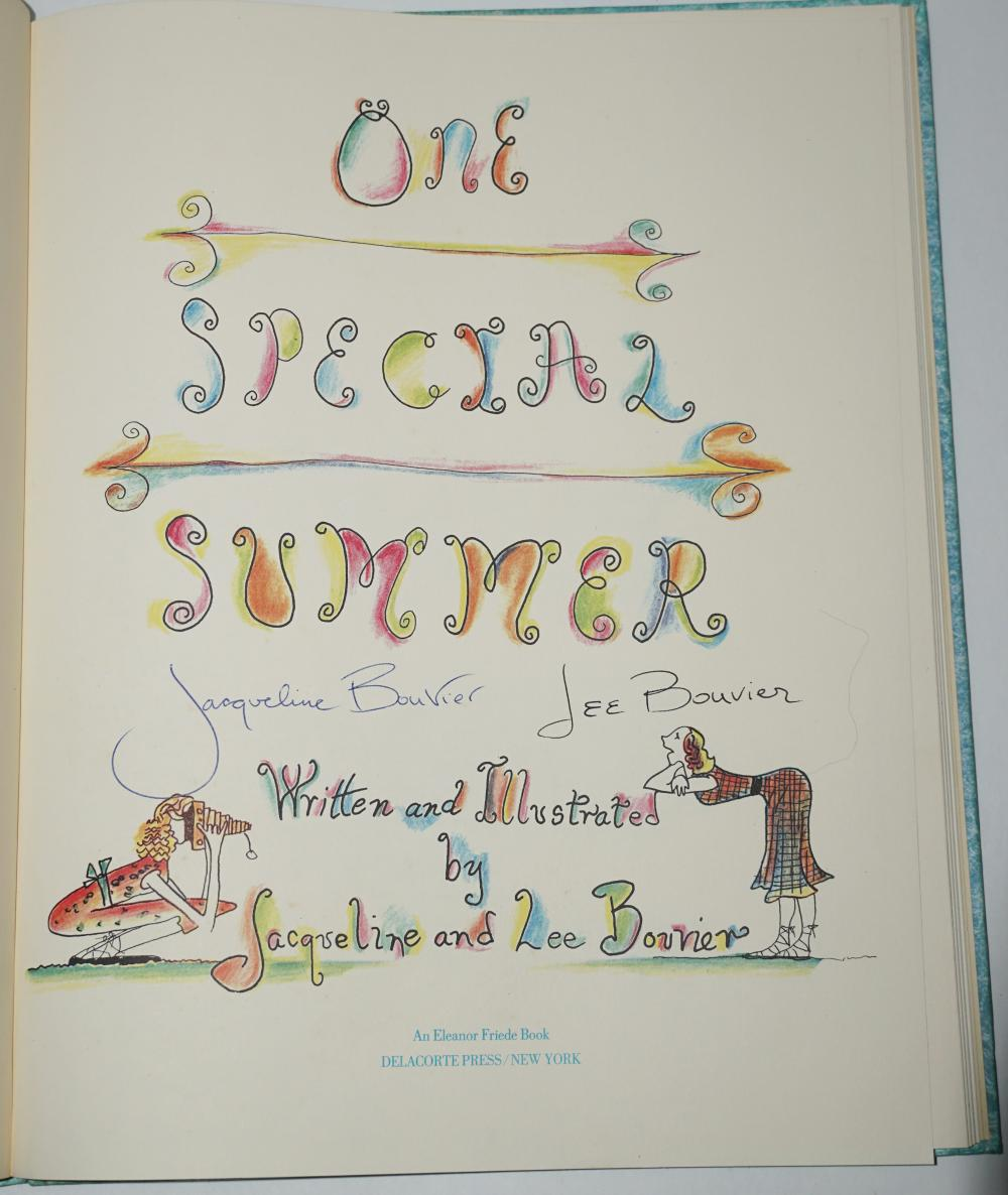 "Jacqueline Kennedy and Lee Radziwill Signed Book as the Bouvier Sisters, ""One Special Summer"""