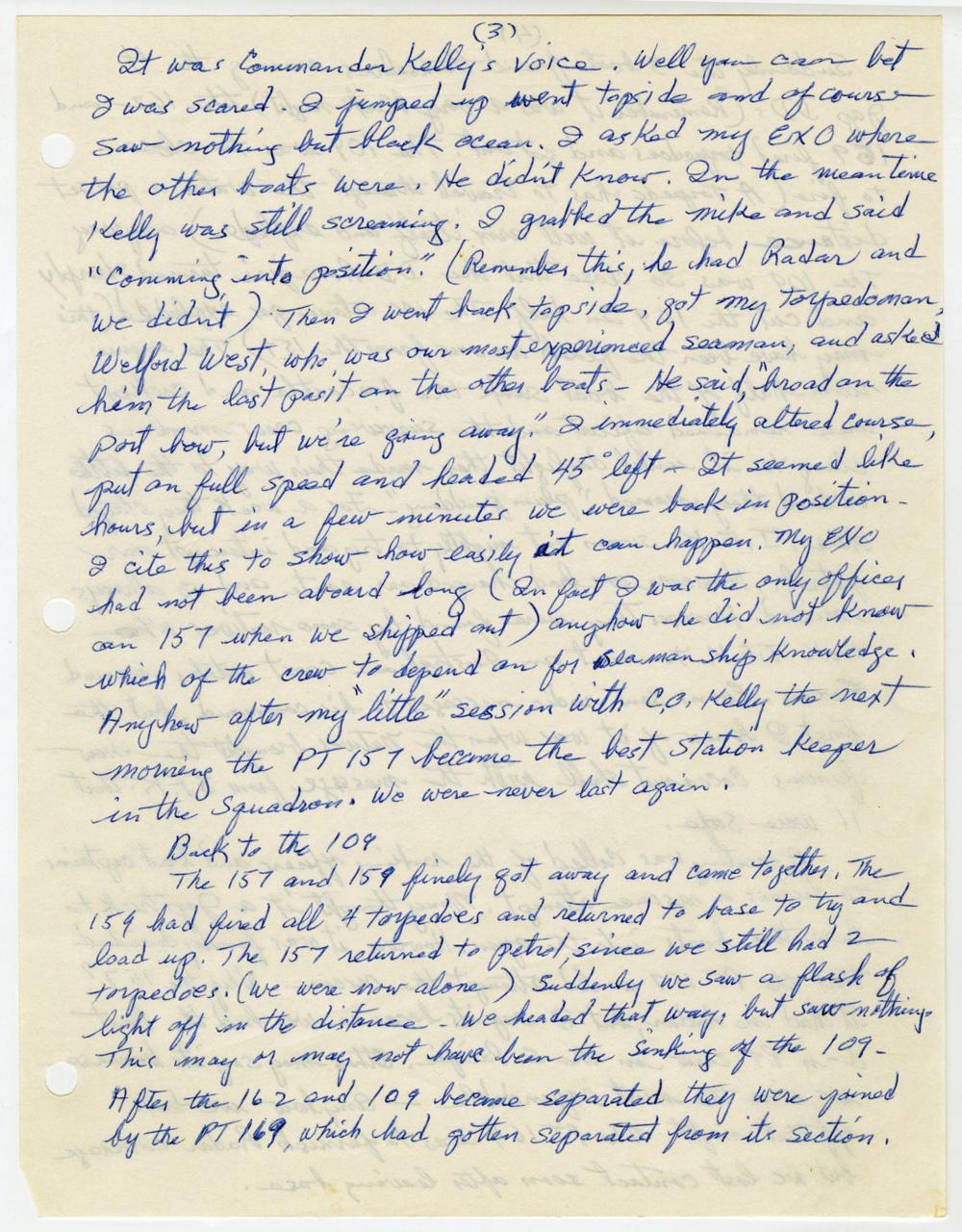PT-109 JFK Rescue Skipper Tells His Story